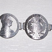 REDUCED Maria Theresa Thaler Bracelet and Pin