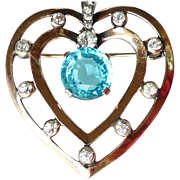 REDUCED Mazer Vintage Heart Brooch