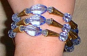 Lovely Napier Blue Crystal Bracelet