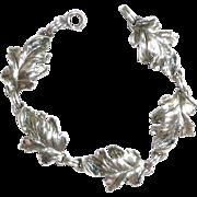 REDUCED Danecraft Sterling Leaf Bracelet