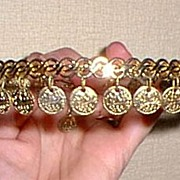 Napier Coins Choker Matching  Chandelier Earrings