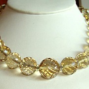 Vintage Genuine Natural Citrine Faceted Beads Necklace