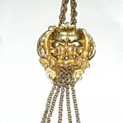 REDUCED Huge Vintage North Wind Medallion Necklace