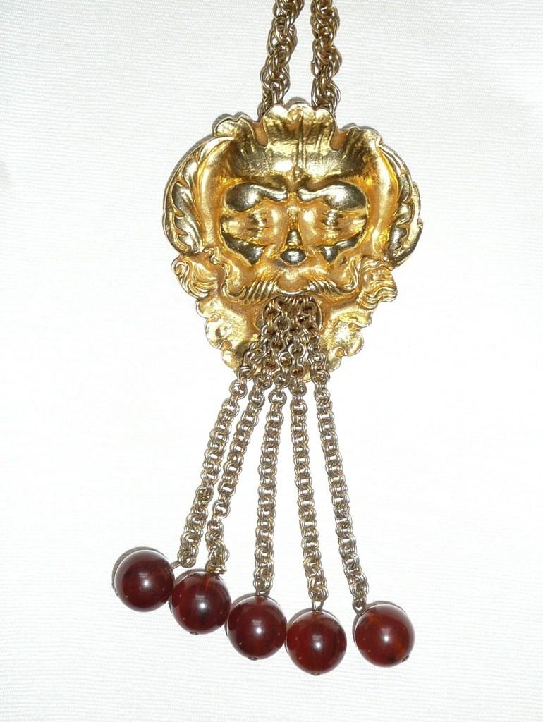 Huge Vintage North Wind Medallion Necklace