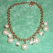 REDUCED Necklace Large Faux pearls