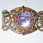 Vintage Crystal Pin Pale Blue