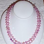 REDUCED Best Vintage Pink Crystal Beads Necklace