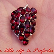 Red Crystals Grapes Dress Clip Small But Pretty