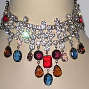 REDUCED Fabulous Runway Necklace and Clip Earrings