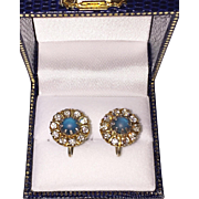 Victorian Saphiret Earrings 1/20 10K Gold