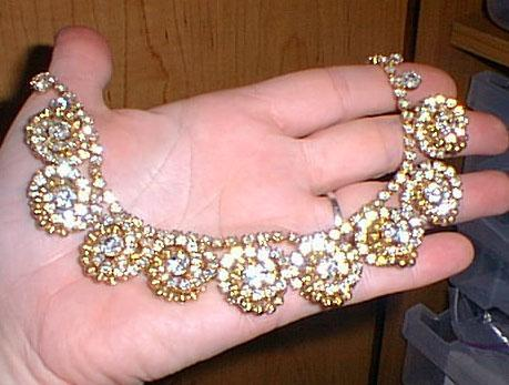 Gorgeous Rhinestone Set Necklace Matching Clip Earrings