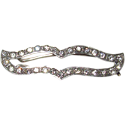 Art Deco Sterling Paste Barrette Fit for a Bride