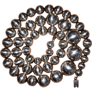 REDUCED Vintage Sterling Graduated Beads Necklace