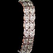 REDUCED Art Deco Sterling Paste Bracelet
