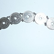 1945 Belgian Coin Sweetheart Bracelet Love Henry