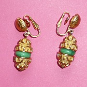 Beautiful Trifari Clip Earrings