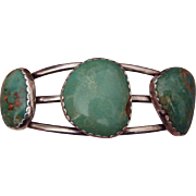 REDUCED Wonderful American Turquoise Silver Bracelet