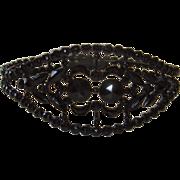 SOLD Victorian French Jet Bangle Mourning Bracelet