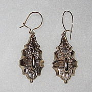 REDUCED Victorian Earrings Engraved Design