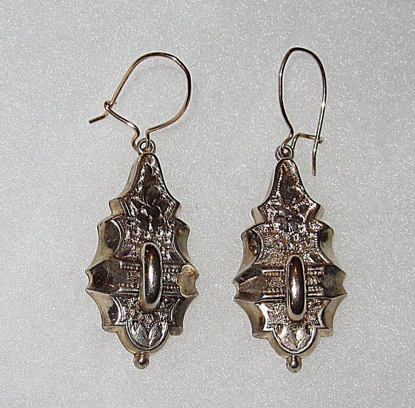Victorian Earrings Engraved Design