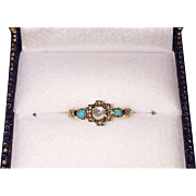 REDUCED Victorian Moonstone Turquoise Ring