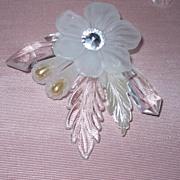 Vintage Lucite Earrings and Brooch Runway Ready