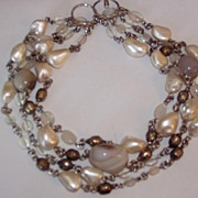 REDUCED Chunky Wild Agate Beads Necklace