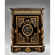 Napoleon III Bronze Mounted Ebonized Cabinet Signed By Mathieu Jeune Befort