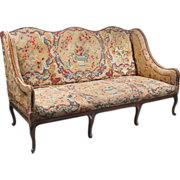 SALE 18th C. Louis XV Settee Covered In Tapestry