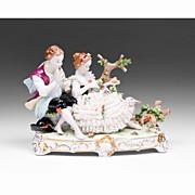 SALE Unterweissbach German Porcelain Lace Figural Grouping