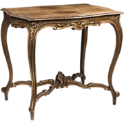 SOLD 19th C. Louis XV Beechwood Hand Carved Center Table