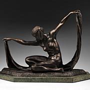 SALE Isis Bronze Sculpture After Claire Jeanne Roberte Colinet