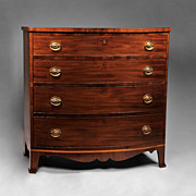 SALE Bow Front American Hepplewhite Chest, 1800-10