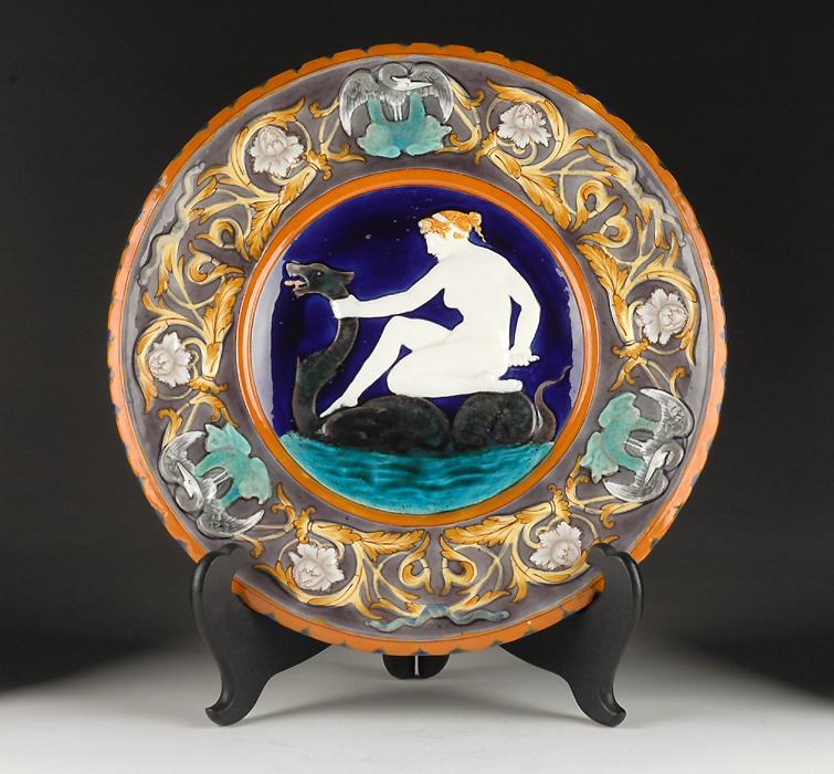 Wedgwood Charger, Leda And The Swan, 1872