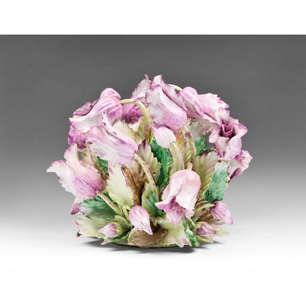Large capodimonte porcelain tulip centerpiece from piatik