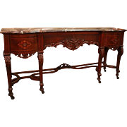 Charles II Style Walnut Marquetry Sideboard