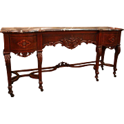 SALE Charles II Style Walnut Marquetry Sideboard