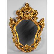 SALE Giltwood Pierced Carved Italian Wall Mirror