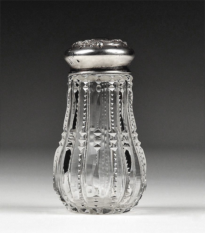 American Cut Glass and Sterling Muffineer