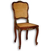 SALE Louis XV Carved Side Chair with Cane Seat and Back