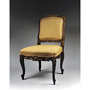 Mid 19th C. Louis XV Hand Carved Side Chair