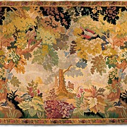 SALE Late 19th Century French Pastoral or Verdure Woven Tapestry