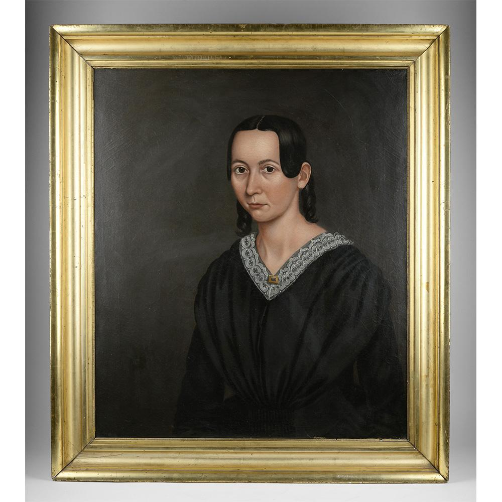 Oil Painting Portrait of Laura Ayer, 1845