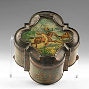 """Huntley & Palmers Biscuit Tin, """"Mexico"""", 1895"""