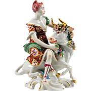 SALE 19th C. Samson Porcelain Figurine of Europa and The Bull