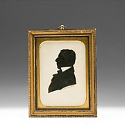 SALE American Cut Out Silhouette of Judge Brown, 1856