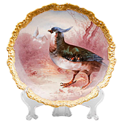 SALE Coronet Limoges Hand Painted Game Bird Plate