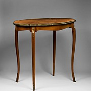 SALE Louis XV Style Satinwood Inlaid Center Table
