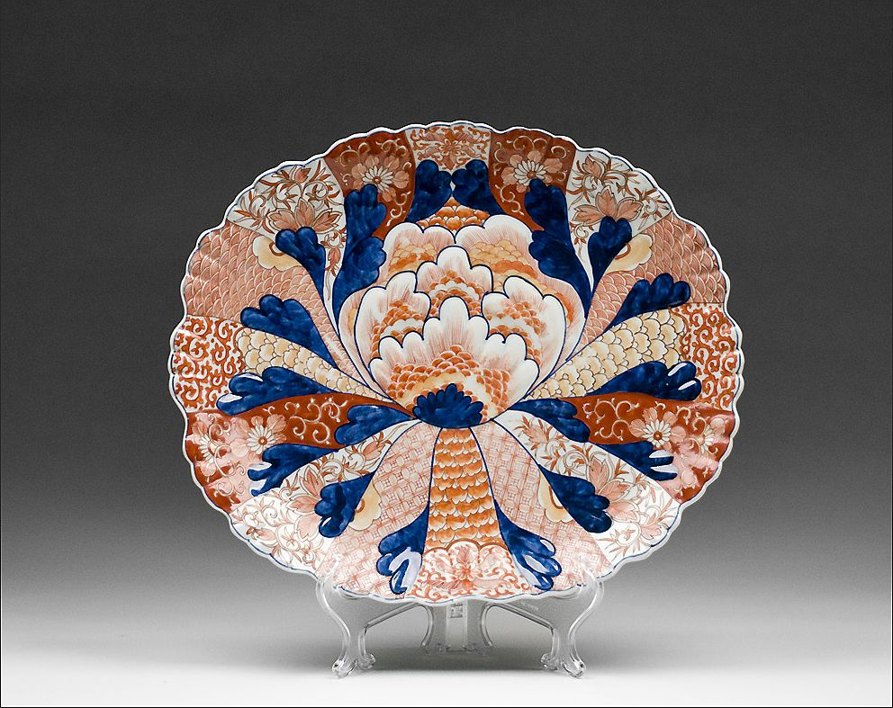 Large Japanese Meiji Period Lobed Oval Imari Platter