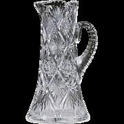 SALE Brilliant Period Cut Glass Pitcher